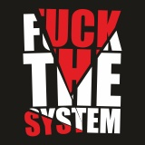 Mikina zip fuck the system